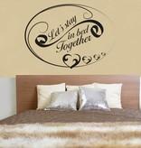 Wall Sticker bedroom text 2