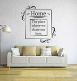 Wall Sticker Living room text 4