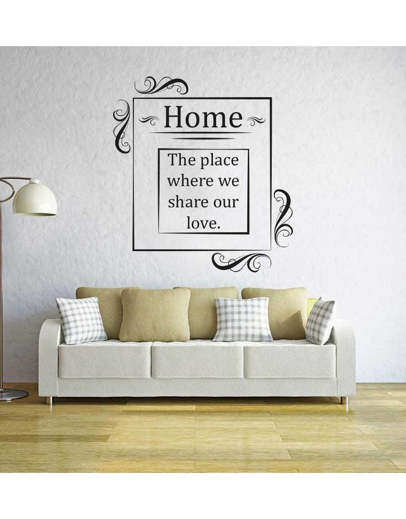 Wall Sticker Living room text 4