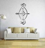 el arco y la flecha etiqueta de la pared