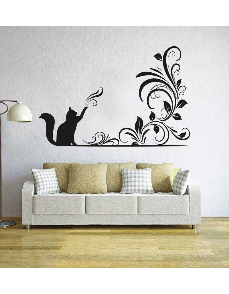 Wall gato mágico pegatina