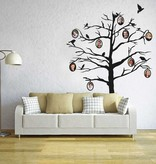 árbol etiqueta de la pared de fotos
