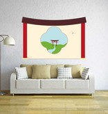 Chinese Wall painting Sticker