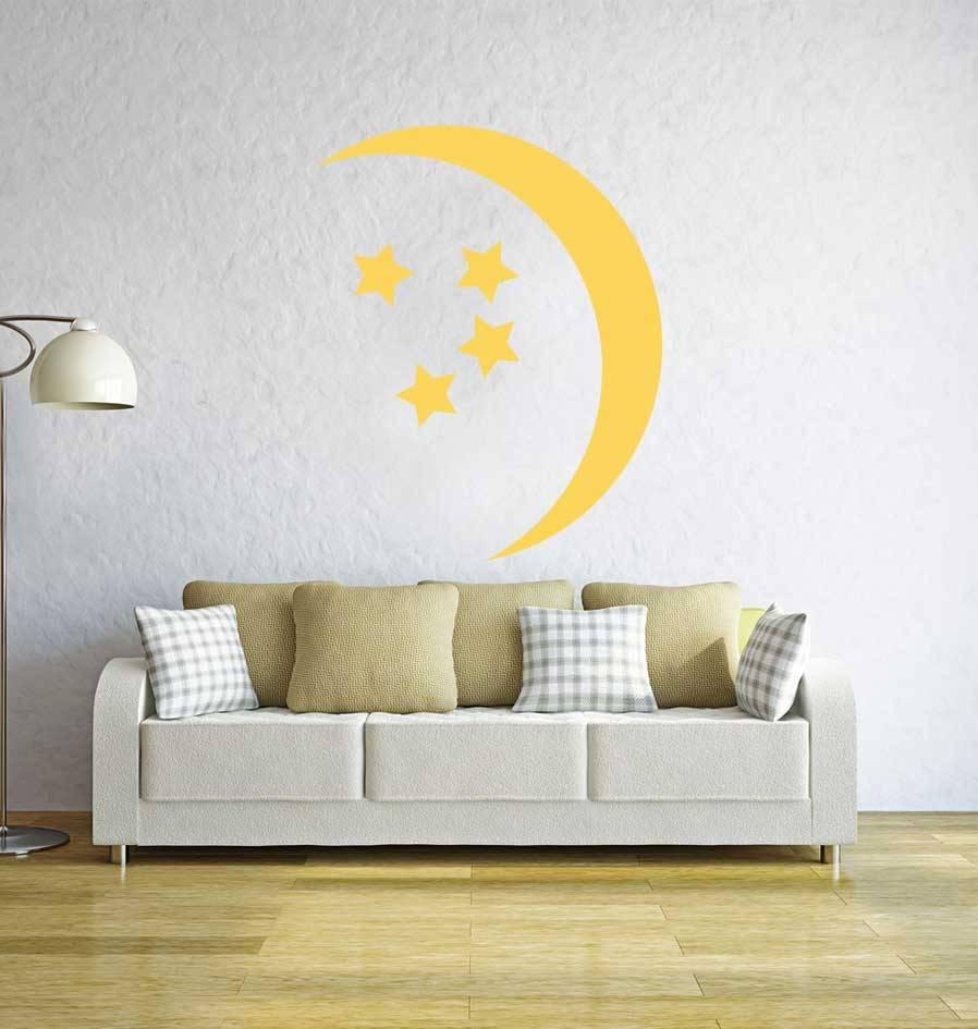 Maan en sterren Sticker