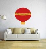 Pegatina lámpara chino