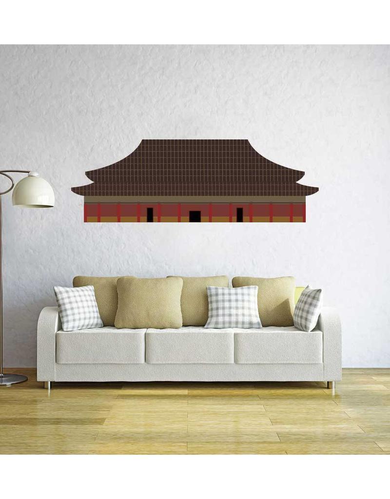 Pegatina edificio chino