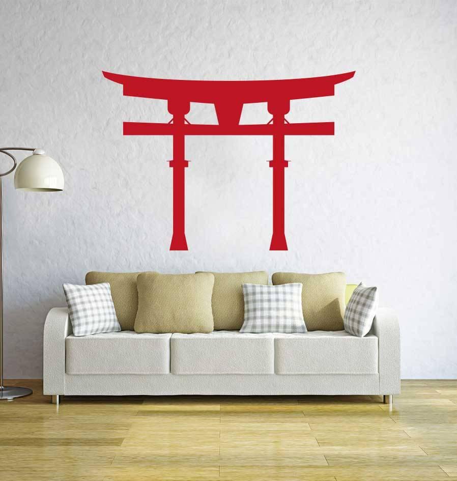 Chinese gate Sticker