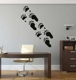 Bären Fußspuren Sticker