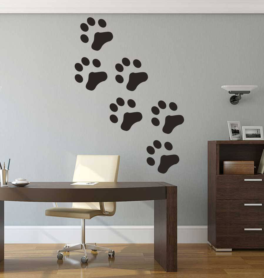 Katzen Fußspuren Sticker