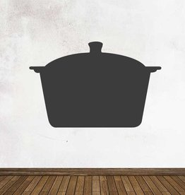 Black board Kitchen Casserole  Sticker