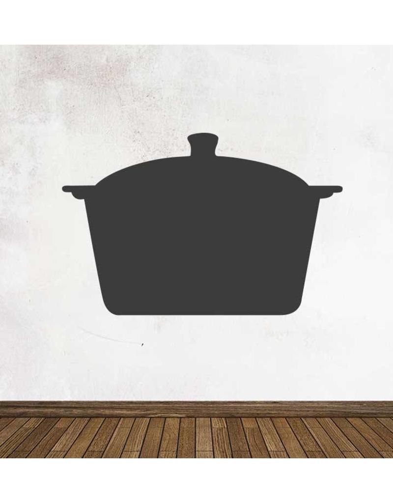 Pegatina pizarra cocina cacerola