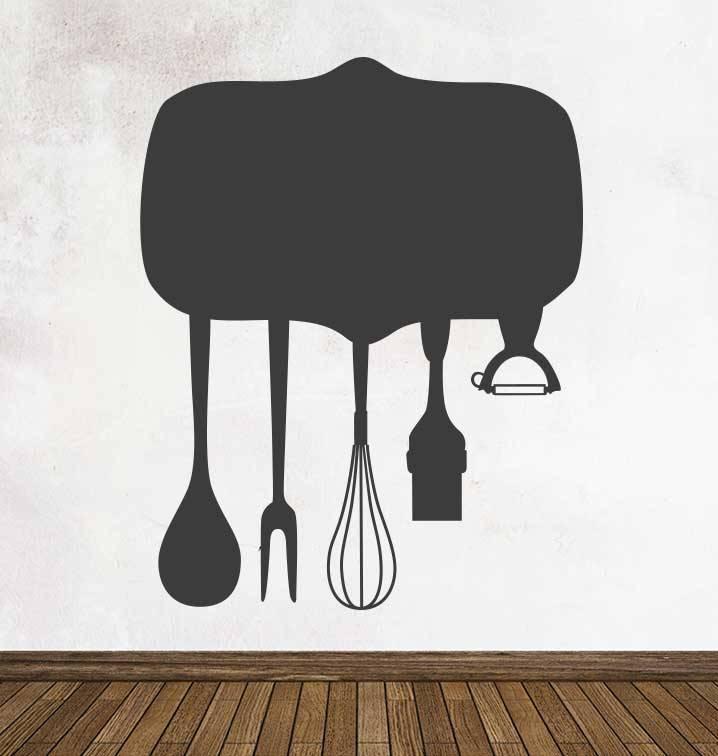 Autocollant tableau noir Cuisine Assiette