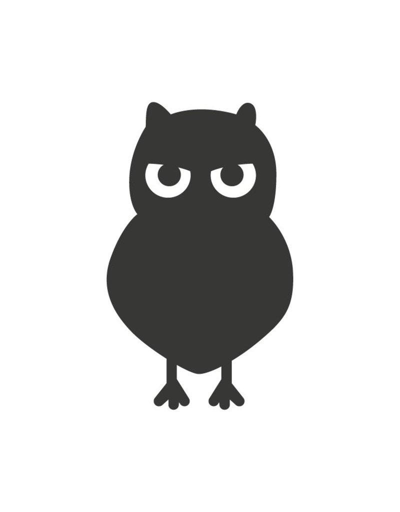 Black board Owls 7 Sticker