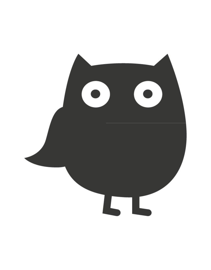 Black board Owls 1 Sticker