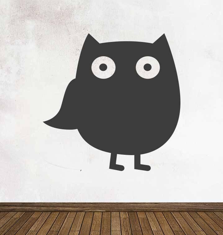 Black board Owls 1 Sticker
