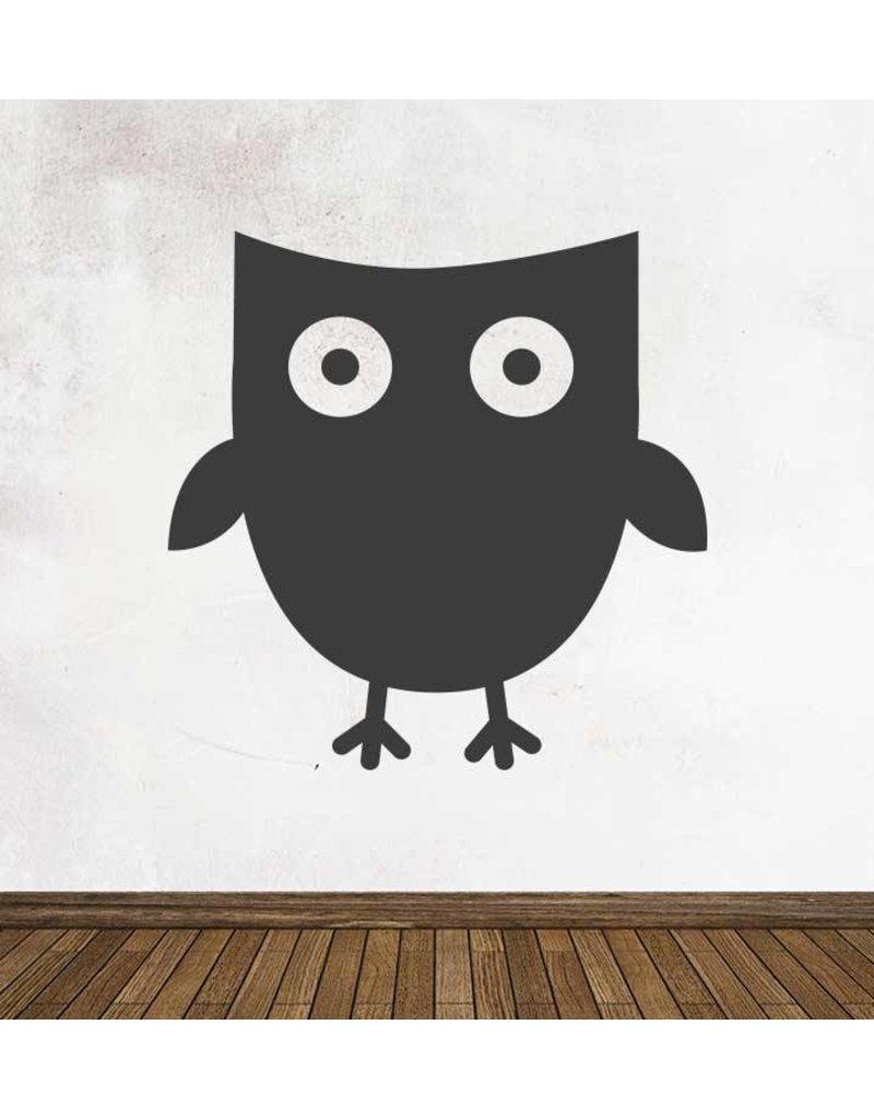Black board Owls 2 Sticker