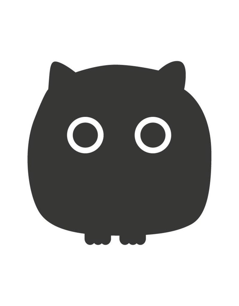 Black board Owls 3 Sticker