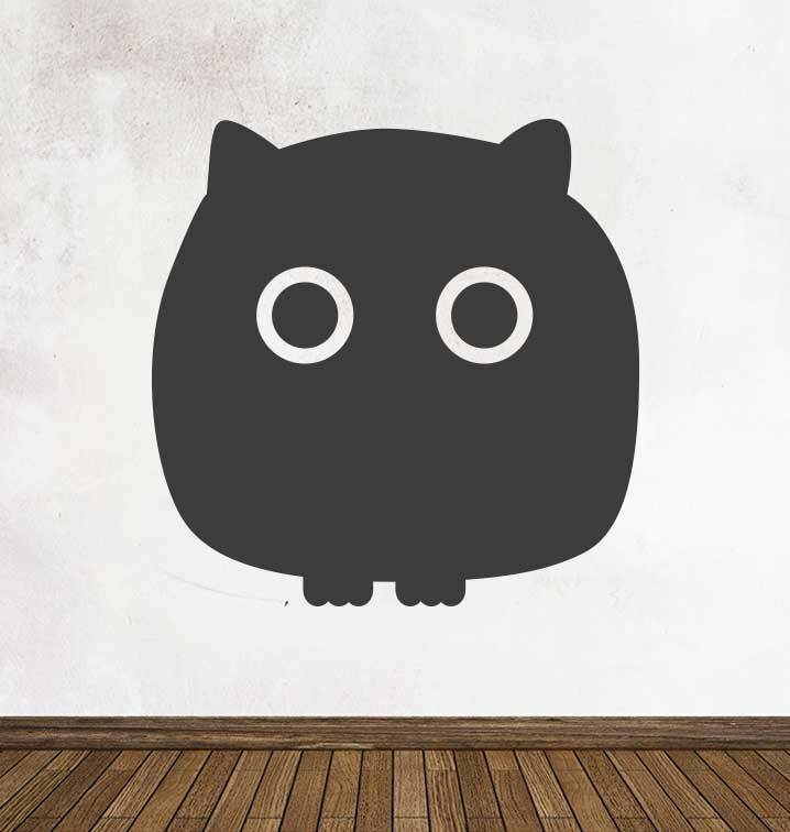 Black board Owls 3 Sticker