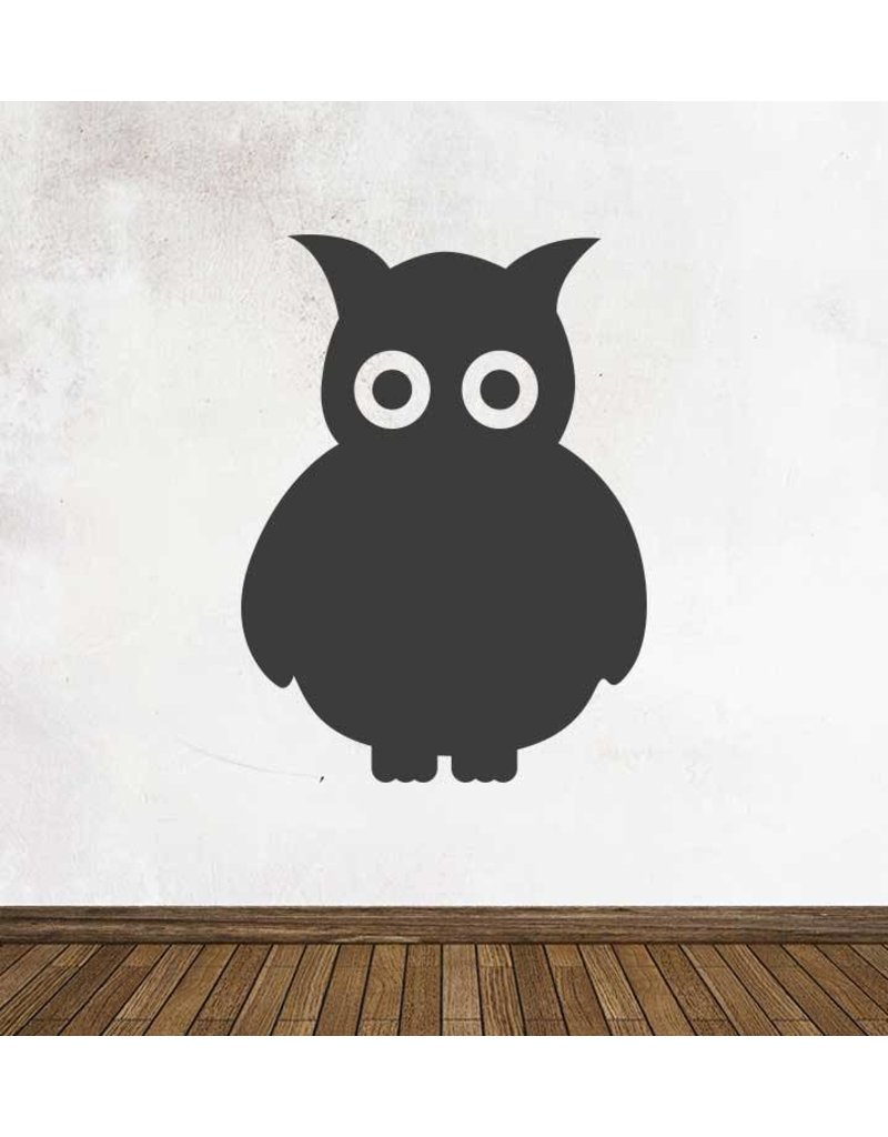 Black board Owls 4 Sticker