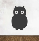 Black board Owls 5 Sticker