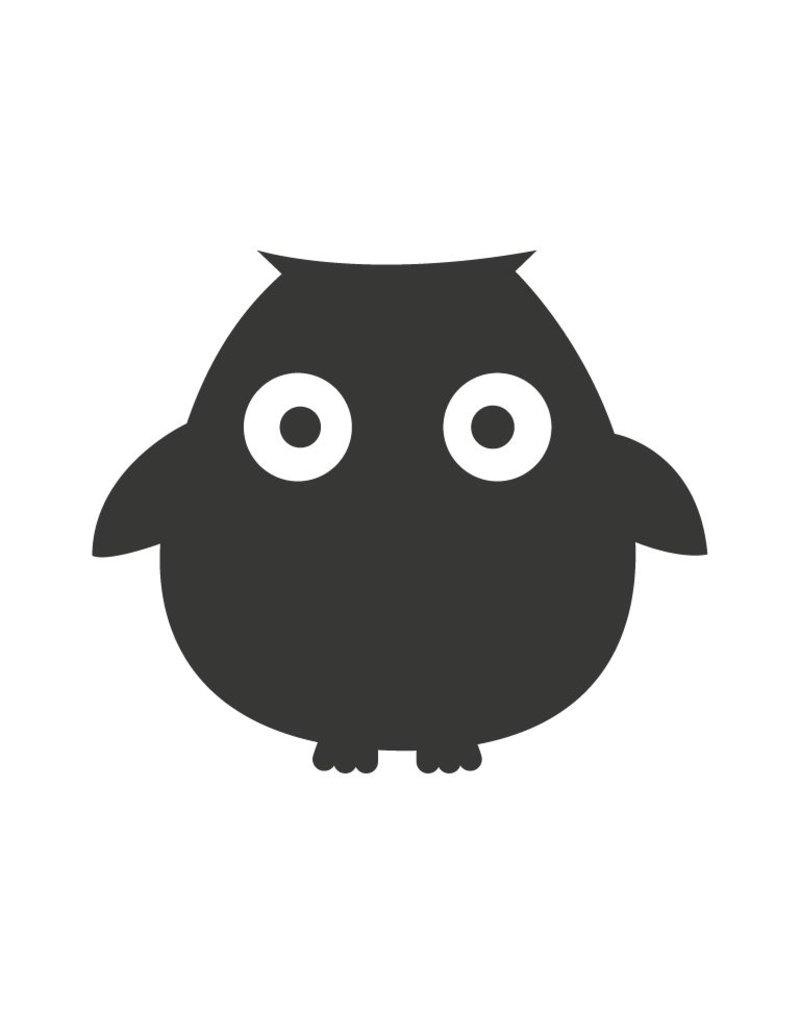 Black board Owls 6 Sticker