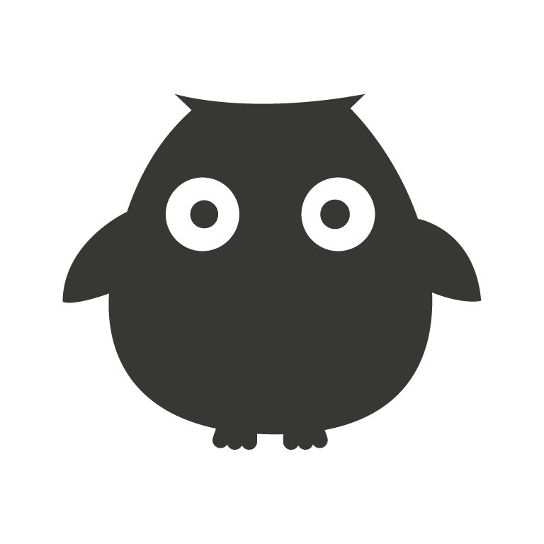 Black board Owls 6 Sticker