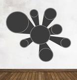 Pegatina pizarra calendario moderno círculo 1