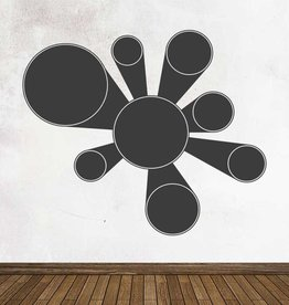 Black board Calendar Modern 2 Sticker