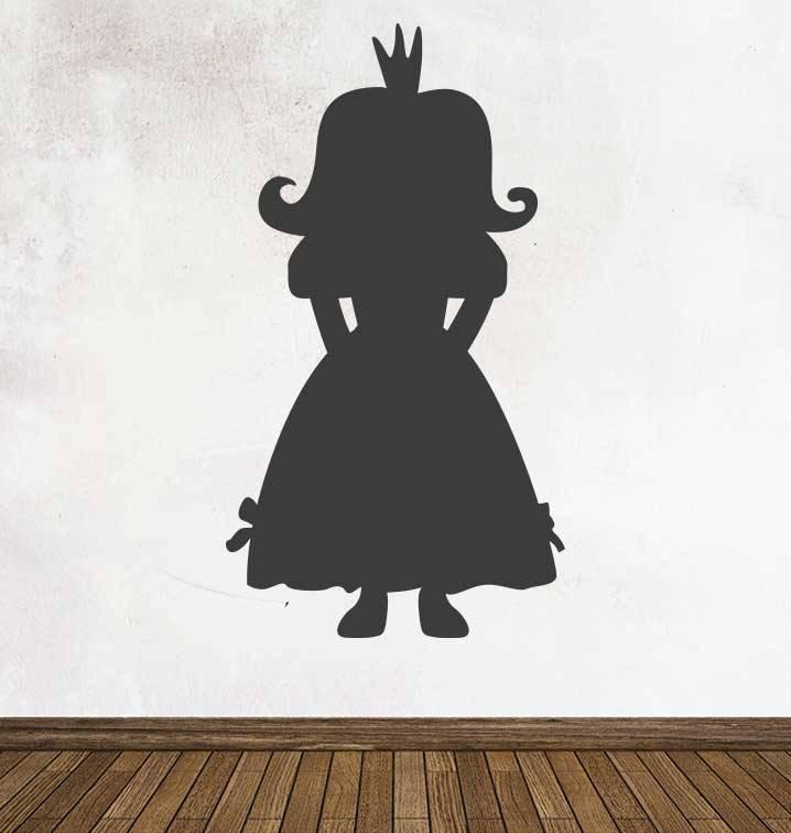 Pegatina pizarra fantasía princessa