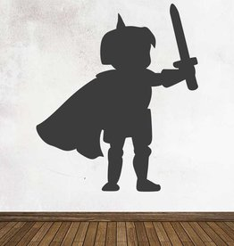 Black board Fantasy Knight Sticker