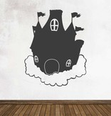 Black board Fantasy Dream castle Sticker