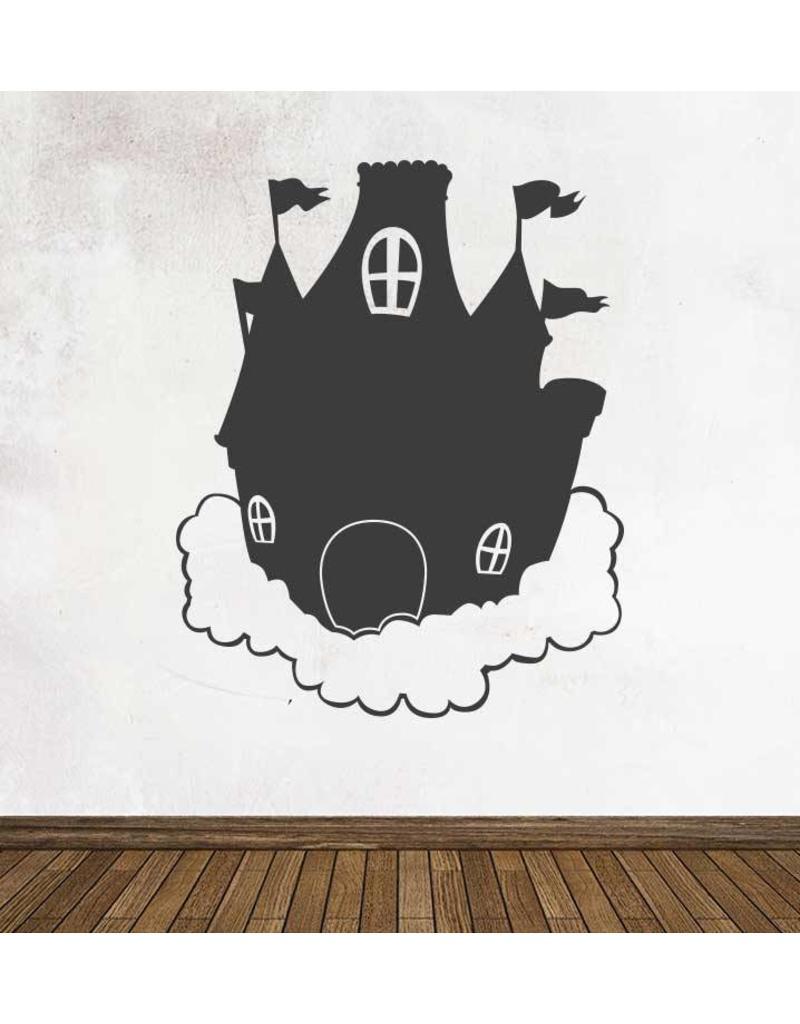 Black board Fantasy Dream castle Sticker