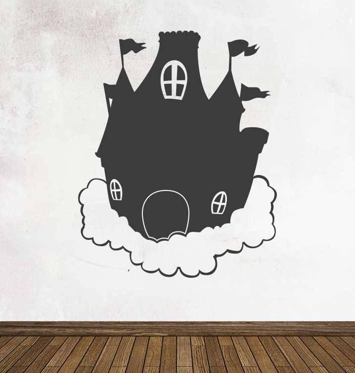 Autocollant tableau noir Imagination  Château de rêve
