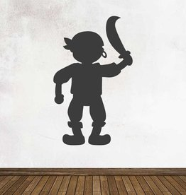 Black board Fantasy Pirate Sticker