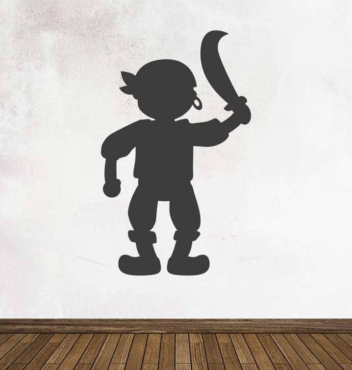 Schoolbord Fantasy Piraat Sticker