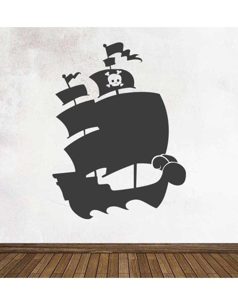 Pegatina pizarra fantasía barco pirata