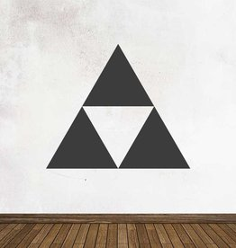 Schoolbord Retro Tri-force Sticker