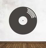 Black board Retro LP Sticker