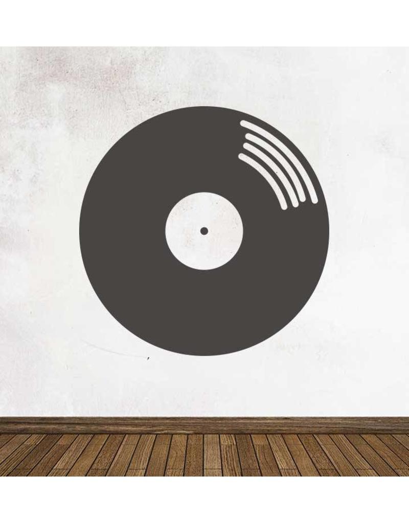 Schoolbord Retro LP Sticker