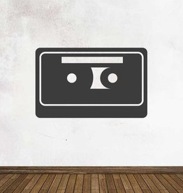 Black board Retro Cassette-tape Sticker
