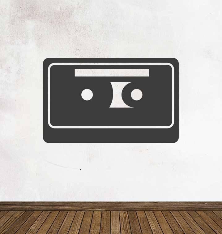 Schoolbord Retro Casettebandje Sticker
