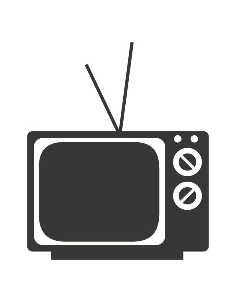 Black board Retro TV Sticker