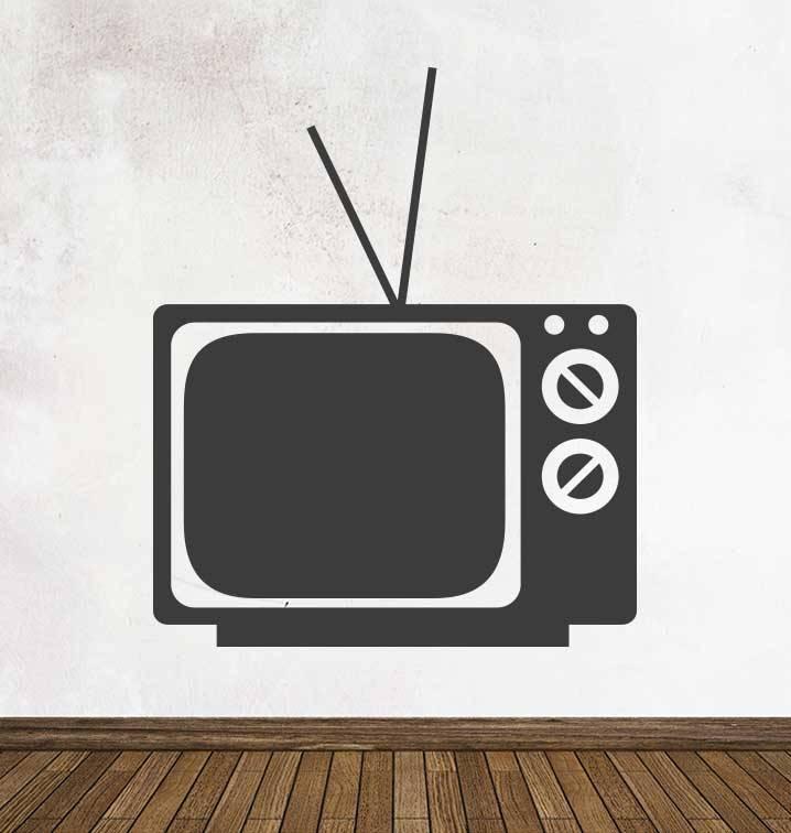 Autocollant tableau noir Rétro Télé