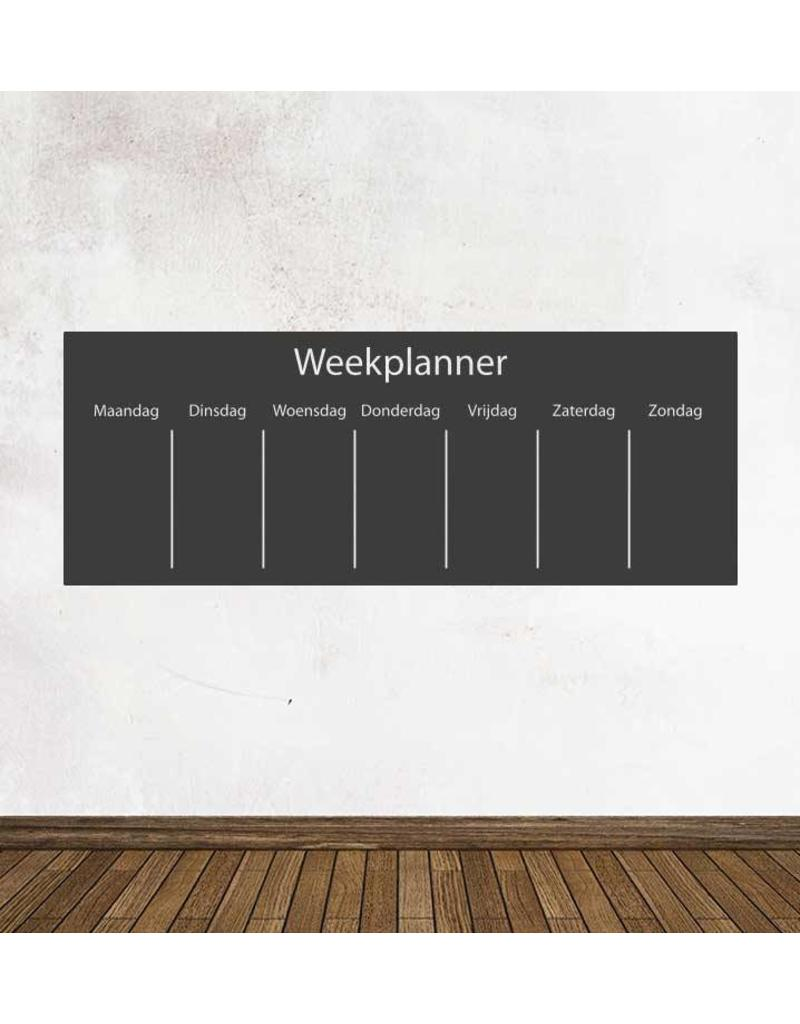 Black board Calendar week planning Sticker