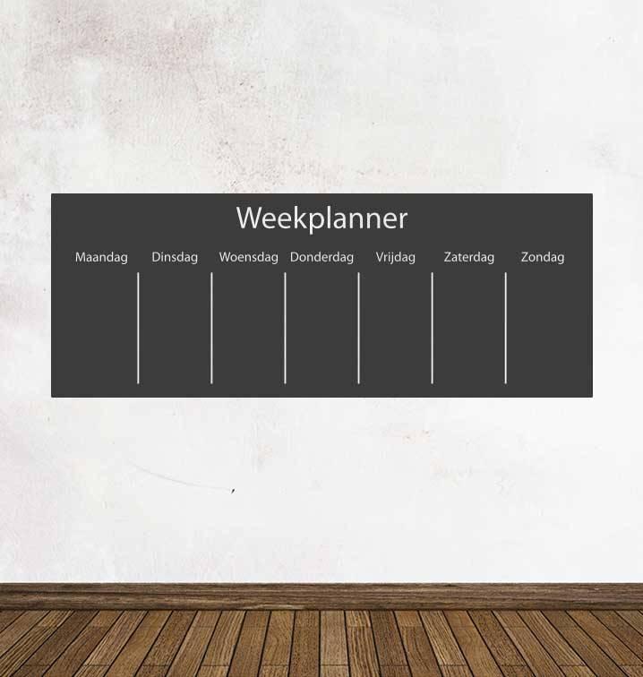 Black board Calendar week planning Sticker