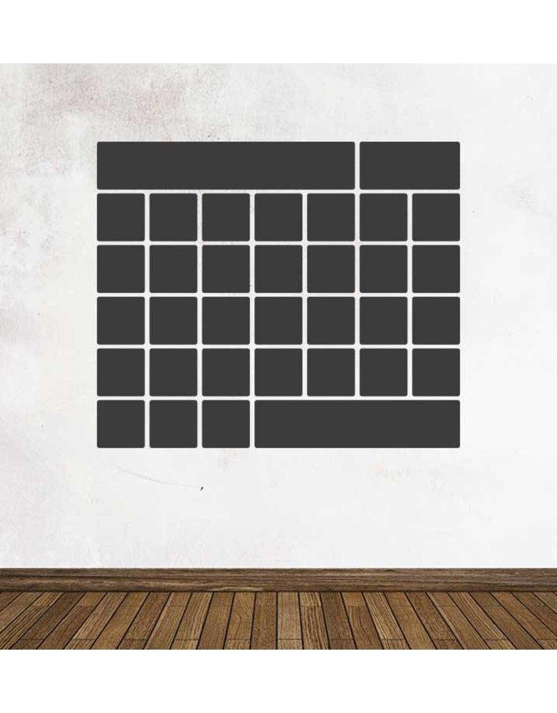 Autocollant tableau noir Calendrier Aperçu mensuel 2