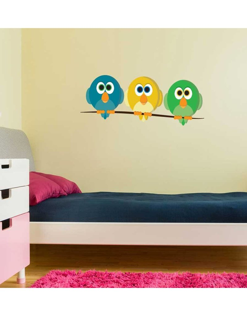 birds on a stick sticker