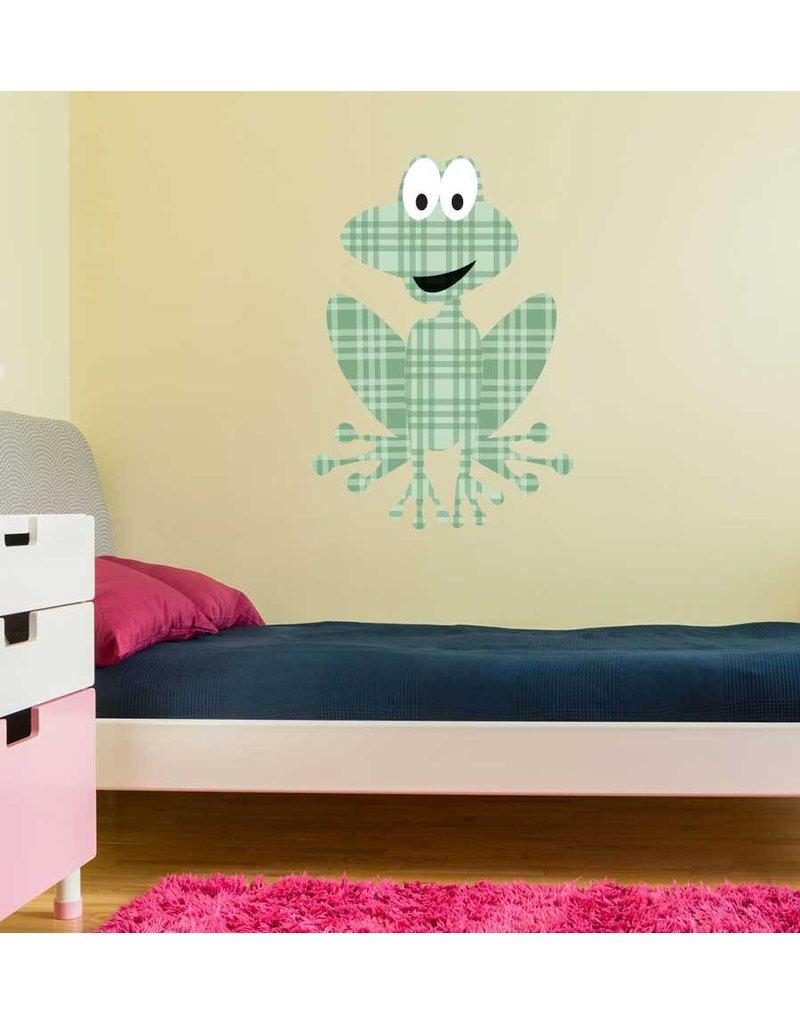 Frog print sticker