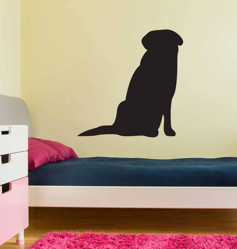 Sitzender Hund Sticker