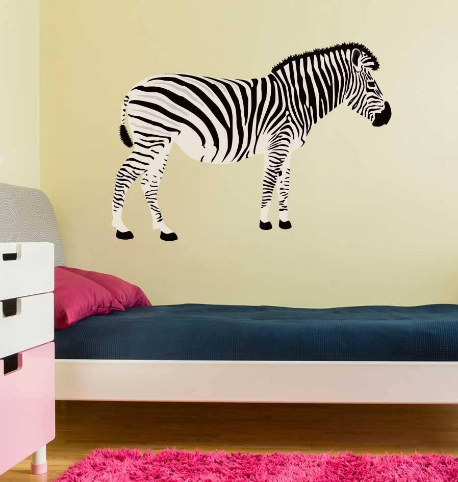 Zebra side view Sticker